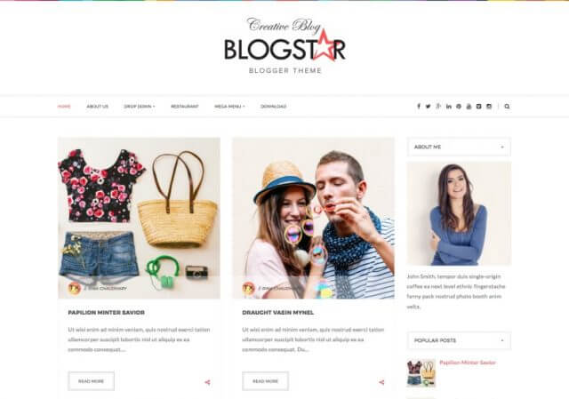 Blog-star-Blogger-Template-sabmera