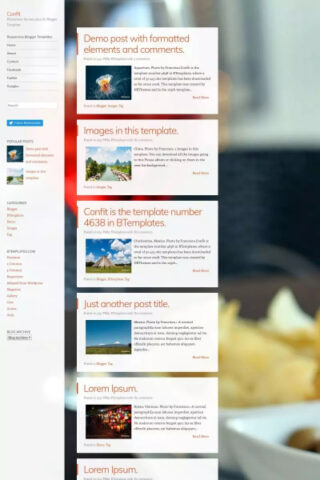 Confit Free Blogger Templates : best blogger theme for adsense approval